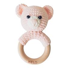 Pink Bear Crochet Rattle Teether