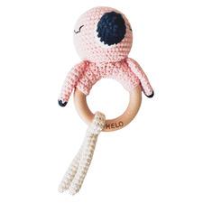 Flamingo Crochet Rattle Teether