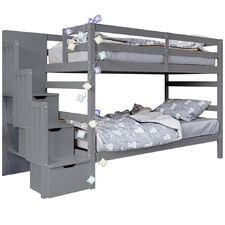 Kids' Mia Bunk Bed with Storage Staircase
