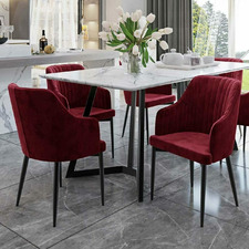 Uhtric Velvet Indoor Dining Chairs (Set of 2)