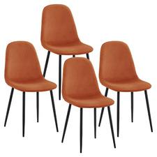 Wilfrido Velvet Indoor Dining Chairs (Set of 4)