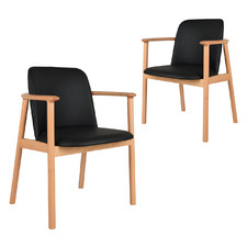 Joly Faux Leather Dining Chairs (Set of 2)