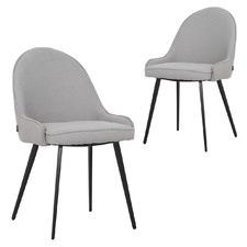 Dane Bouclé Fabric Dining Chairs (Set of 2)