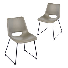 Giova Faux Leather Dining Chairs (Set of 2)
