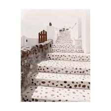 Stairs of Santorini Printed Wall Art