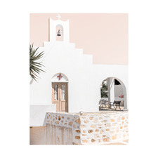 Santorini Chapel Printed Wall Art