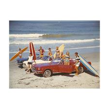 Summer Beach Ride III Printed Wall Art