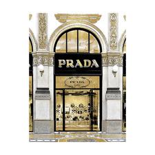 Prada in Gold Printed Wall Art
