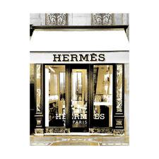 Hermes in Gold Printed Wall Art