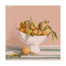 Bowl of Oranges Printed Wall Art