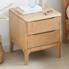 Thea American Oak Wood Bedside Table