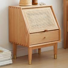 Marcela American Oak Wood Bedside Table