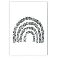 Black & White Wildflower Rainbow Unframed Paper Print