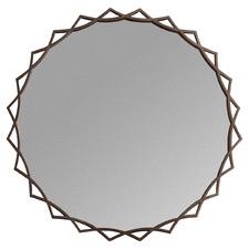 Menten Round Metal Wall Mirror