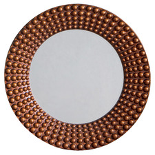Ayrton Beaded Round Wall Mirror