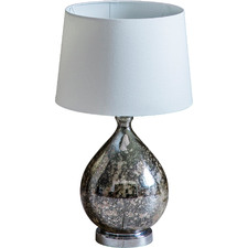 Lacey Smoked Glass Table Lamp