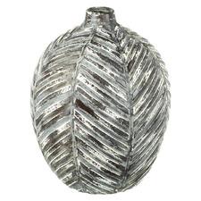 Wide Distressed Zerron Ceramic Vase