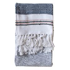 Aran Woven Cotton Throw