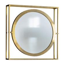 Hegre Round Iron Wall Mirror