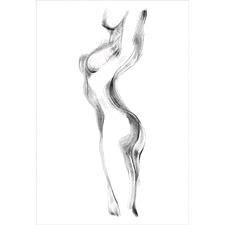 Arched Nude Silhouette Canvas Wall Art