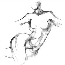 Nude Twist Canvas Wall Art