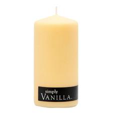 13cm Vanilla Pillar Candle