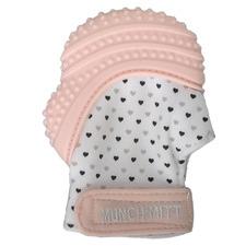 Malarkey Kids Pastel Pink Munch Mitt Teething Mitten