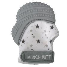 Malarkey Kids Grey Stars Munch Mitt Teething Mitten