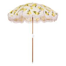 Vintage Lemons Holiday Beach Umbrella