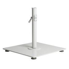 White Classic Laurens Carbon Steel Umbrella Base