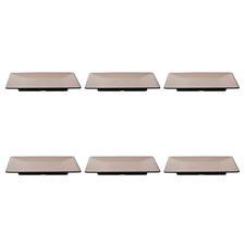 24cm Square Melamine Side Plates (Set of 6)