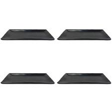 33.5cm Rectangular Melamine Serving Plates (Set of 4)