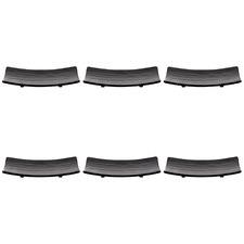 21.5cm Curved Rectangular Melamine Serving Plates (Set of 6)