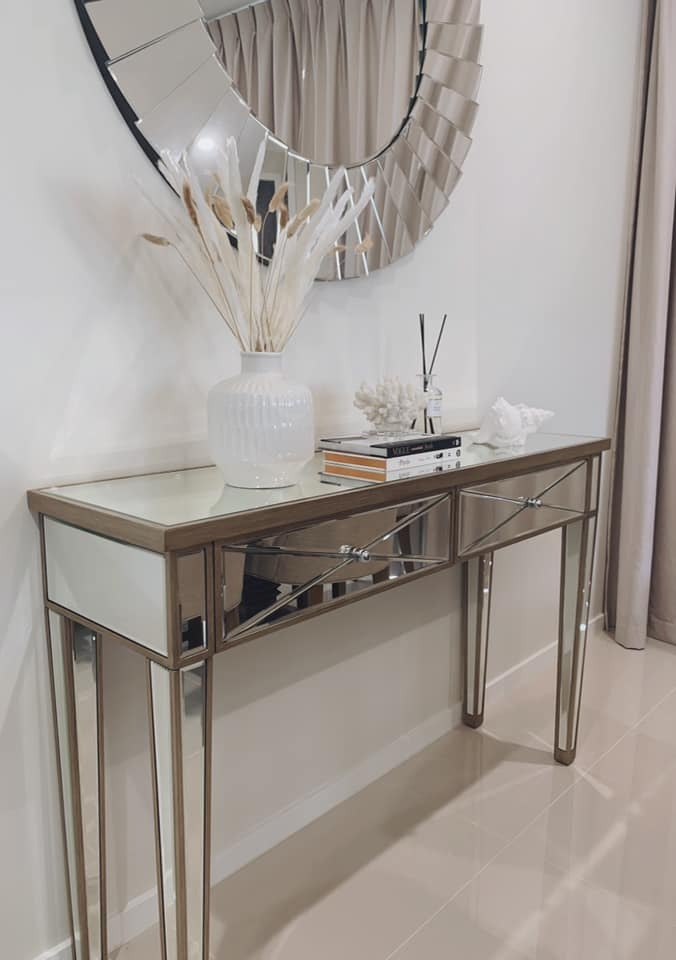 Lexington Home Plano Luxe Mirrored, Mirrored Hall Table Australia