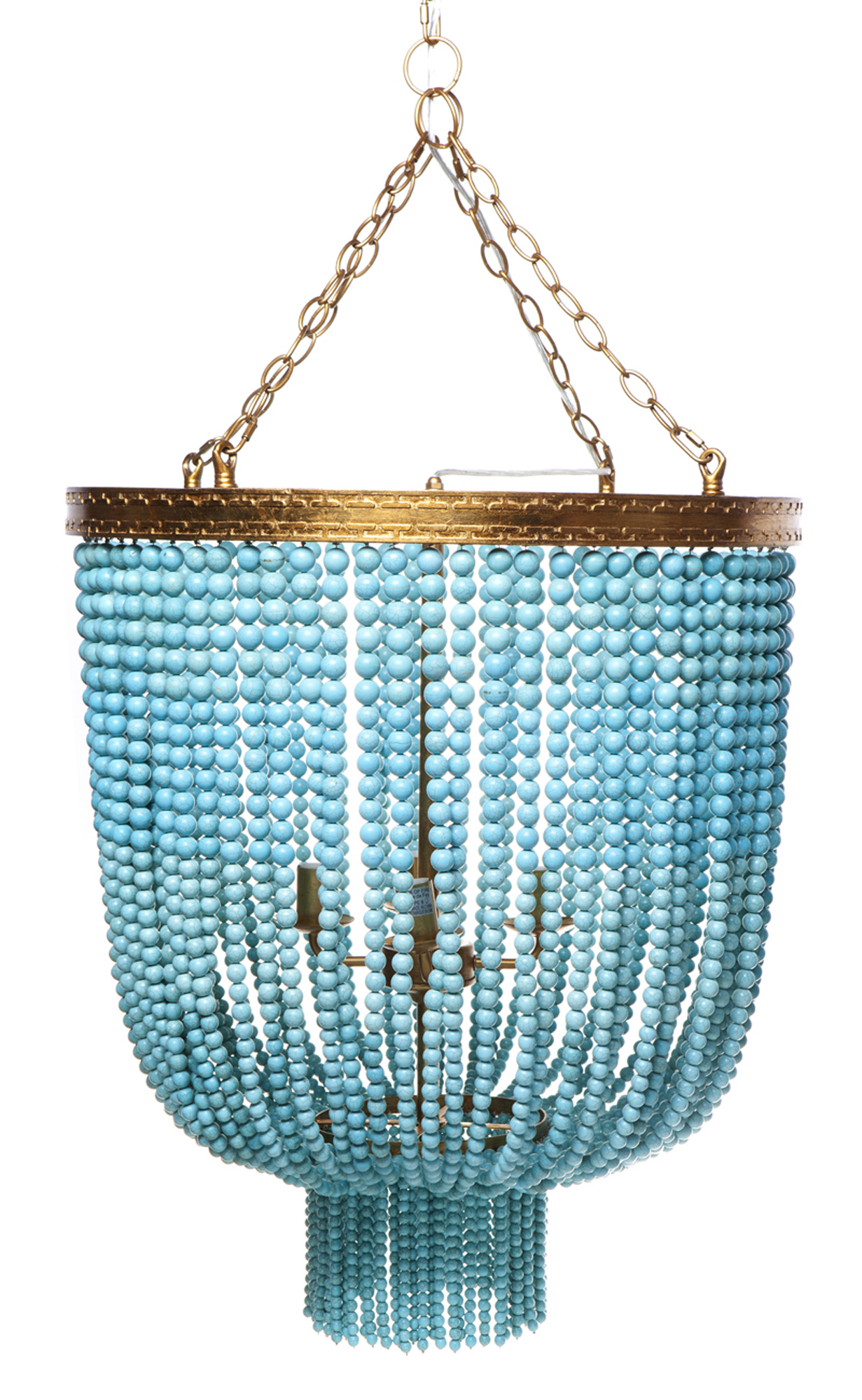 Turquoise Avalon Beaded Pendant Light