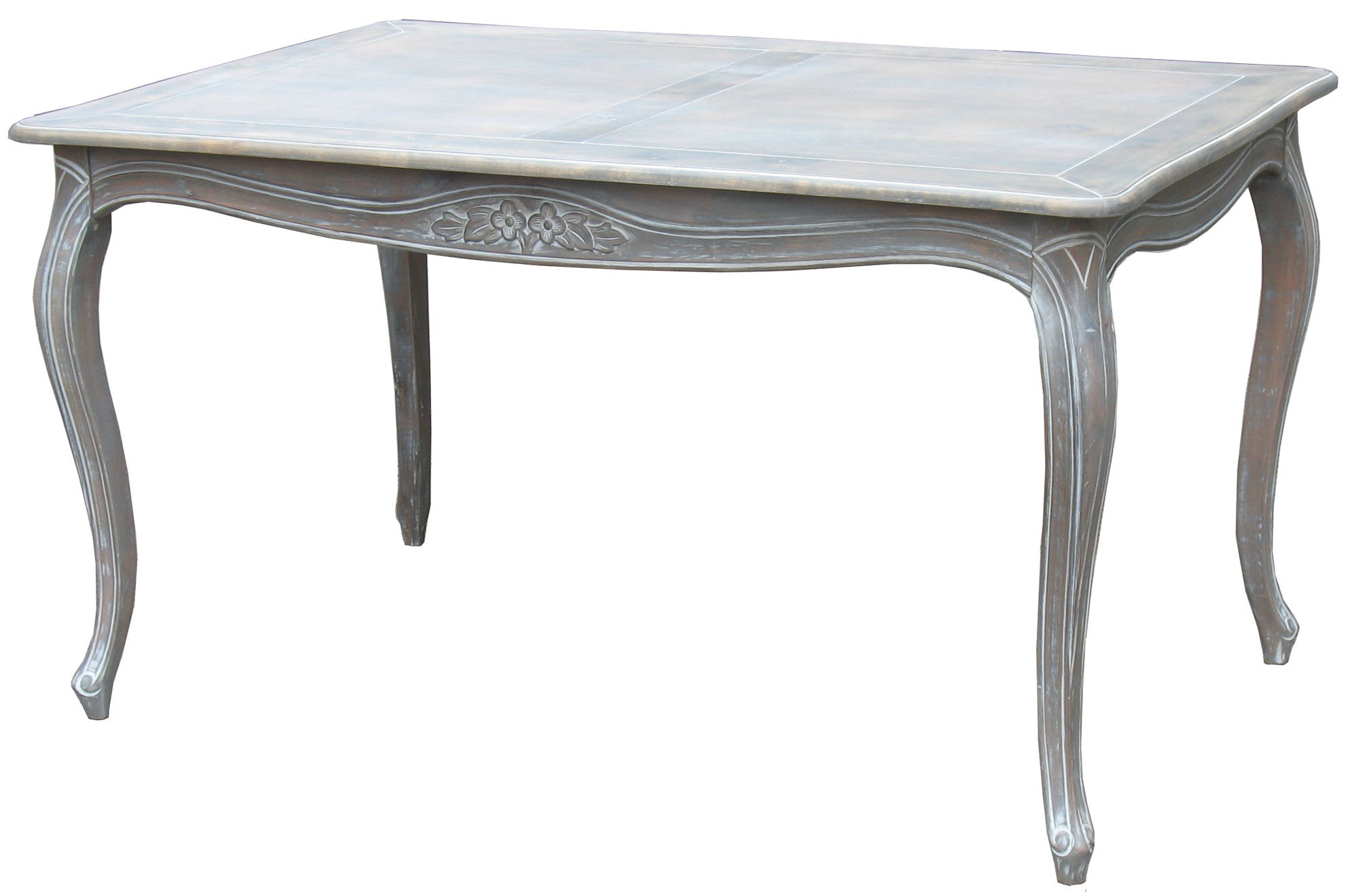 Emporium Oggetti Louis Xv Dining Table In Wash White Temple Webster