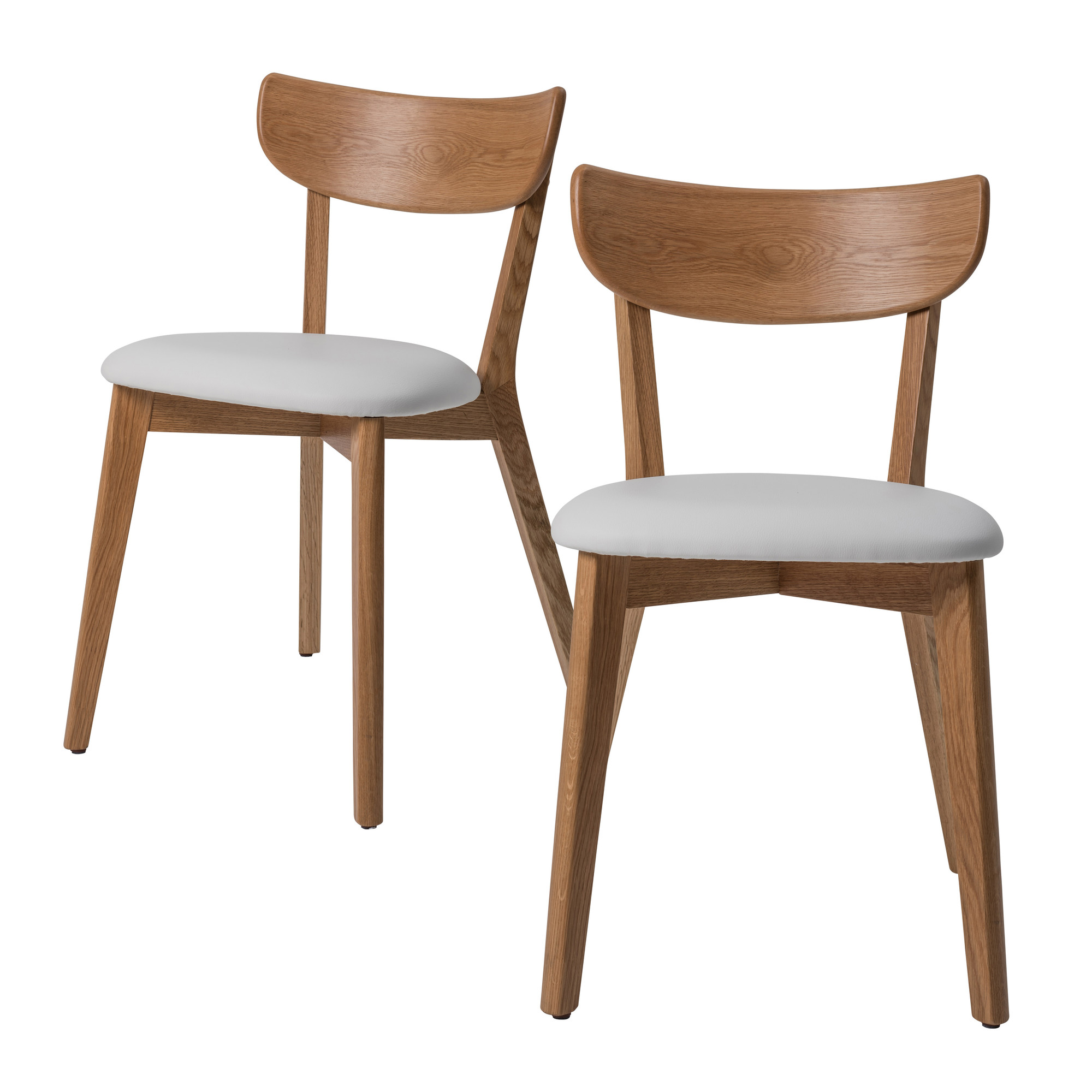Image Is Loading NEW White Seat Fjord Dining Chairs