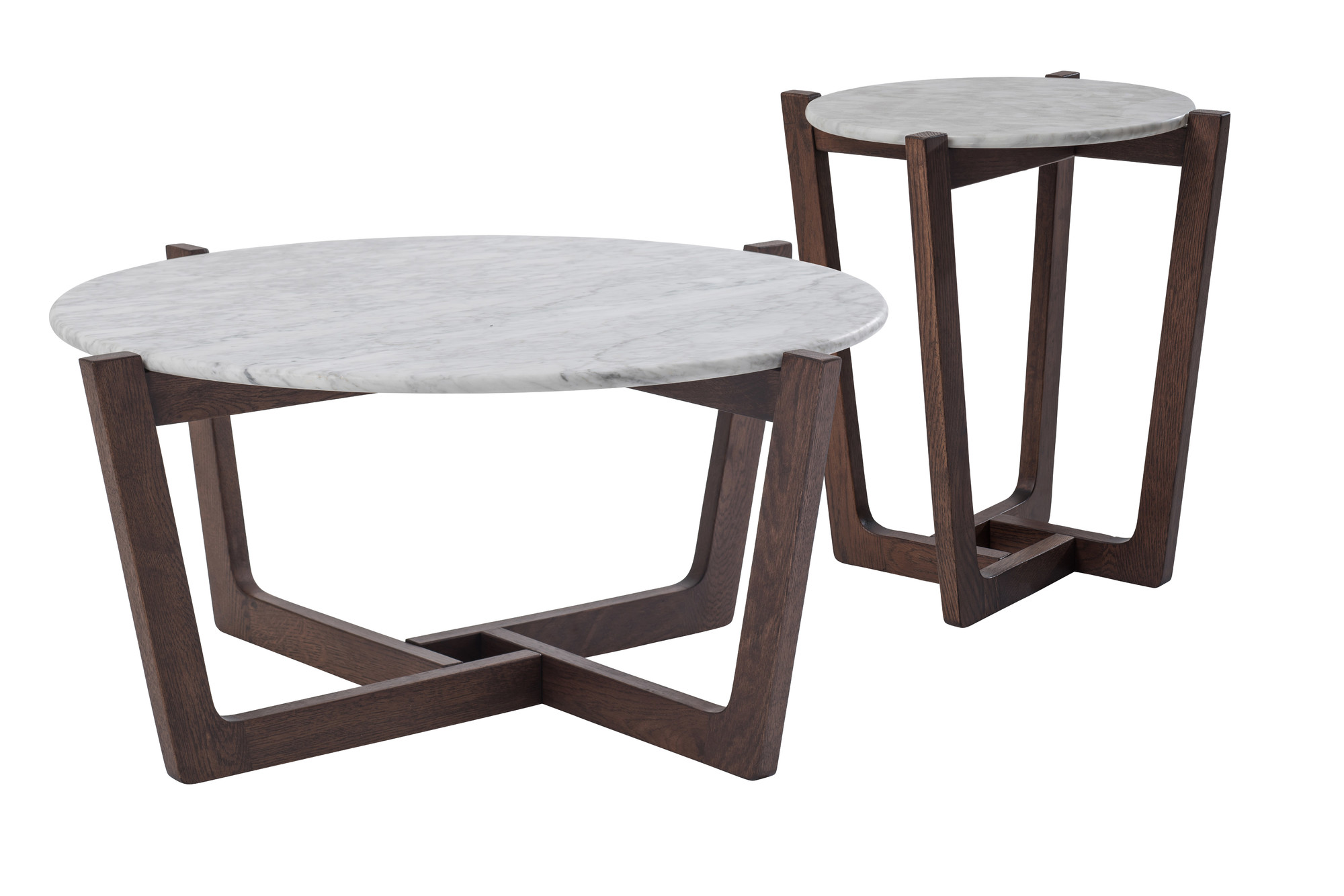 Monterey White Marble Coffee & Side Table Set | Temple & Webster