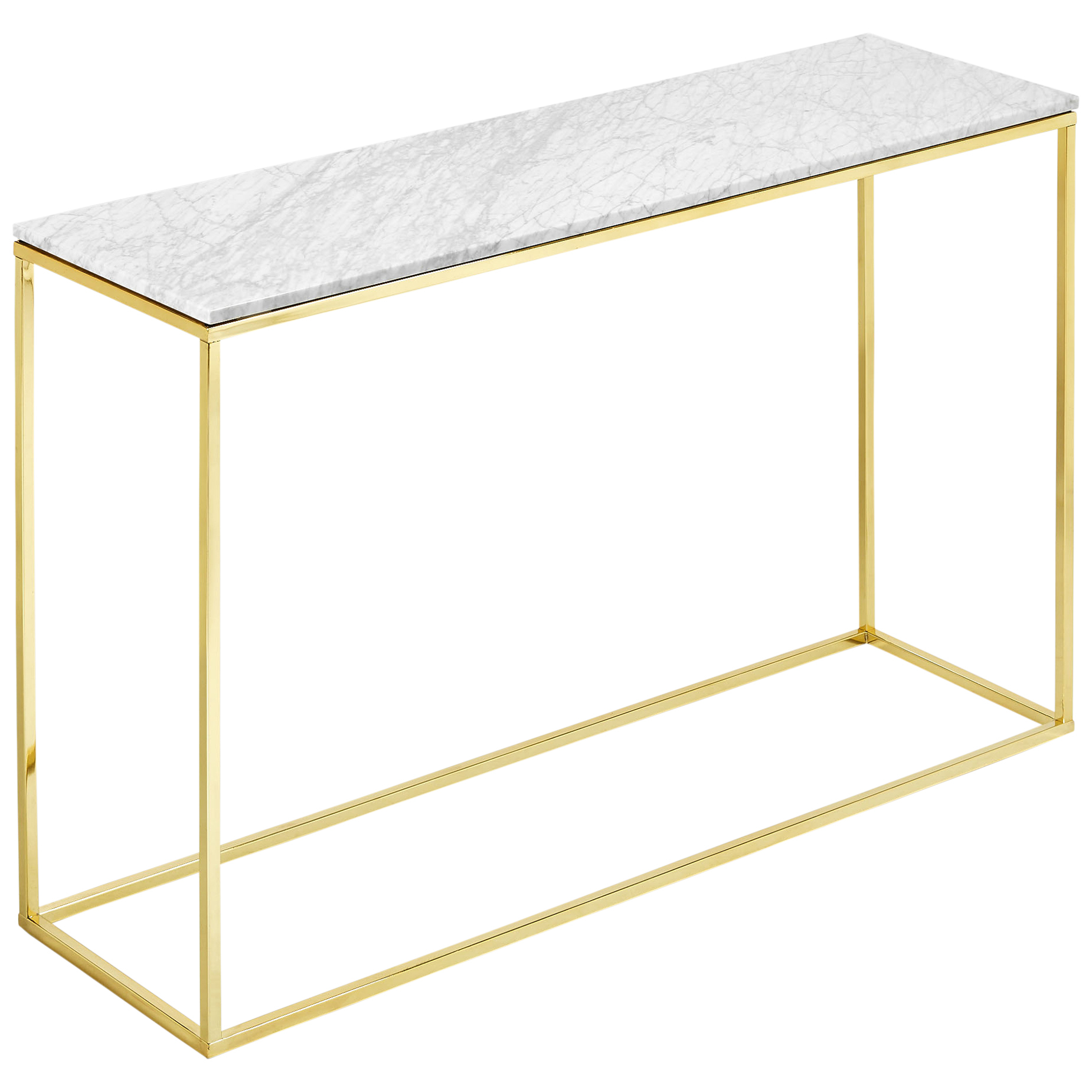o White Marble Console Table