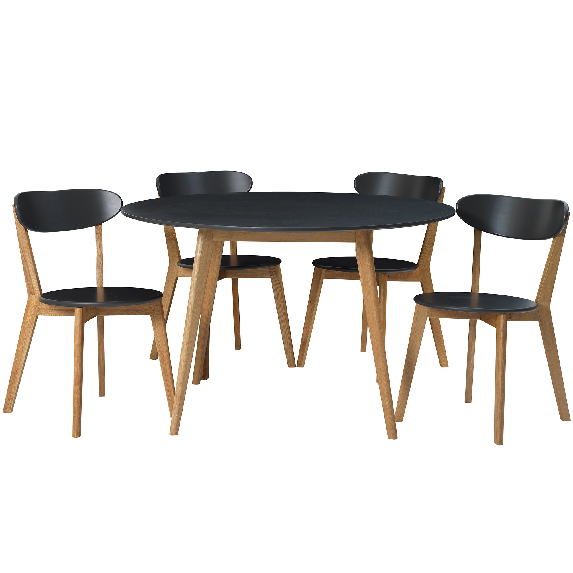 d58bcbf81 SKU  ESTA1211 4 Seater Round Oslo Dining Table   Chair Set is also  sometimes listed under the following manufacturer numbers  10045 Graphite +  2 x 10043