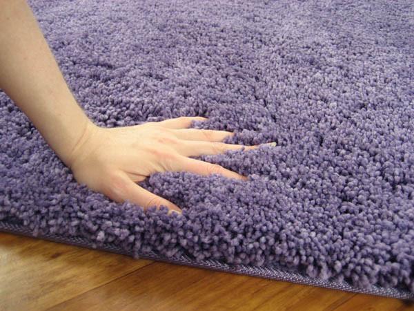 NEW-Twilight-Shag-Purple-Round-Shag-Rug