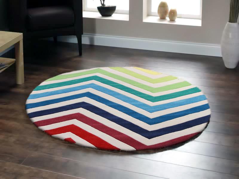 NEW-Round-Rainbow-Chevron-Rug