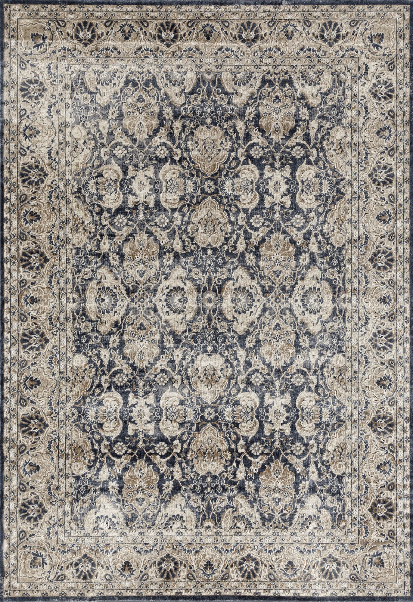 c64925adff SKU #NETW7027 Tandy Navy, Cream & Beige Chenille Cotton Modern Rug is also  sometimes listed under the following manufacturer numbers:  PVD-835-BLU-230X160, ...