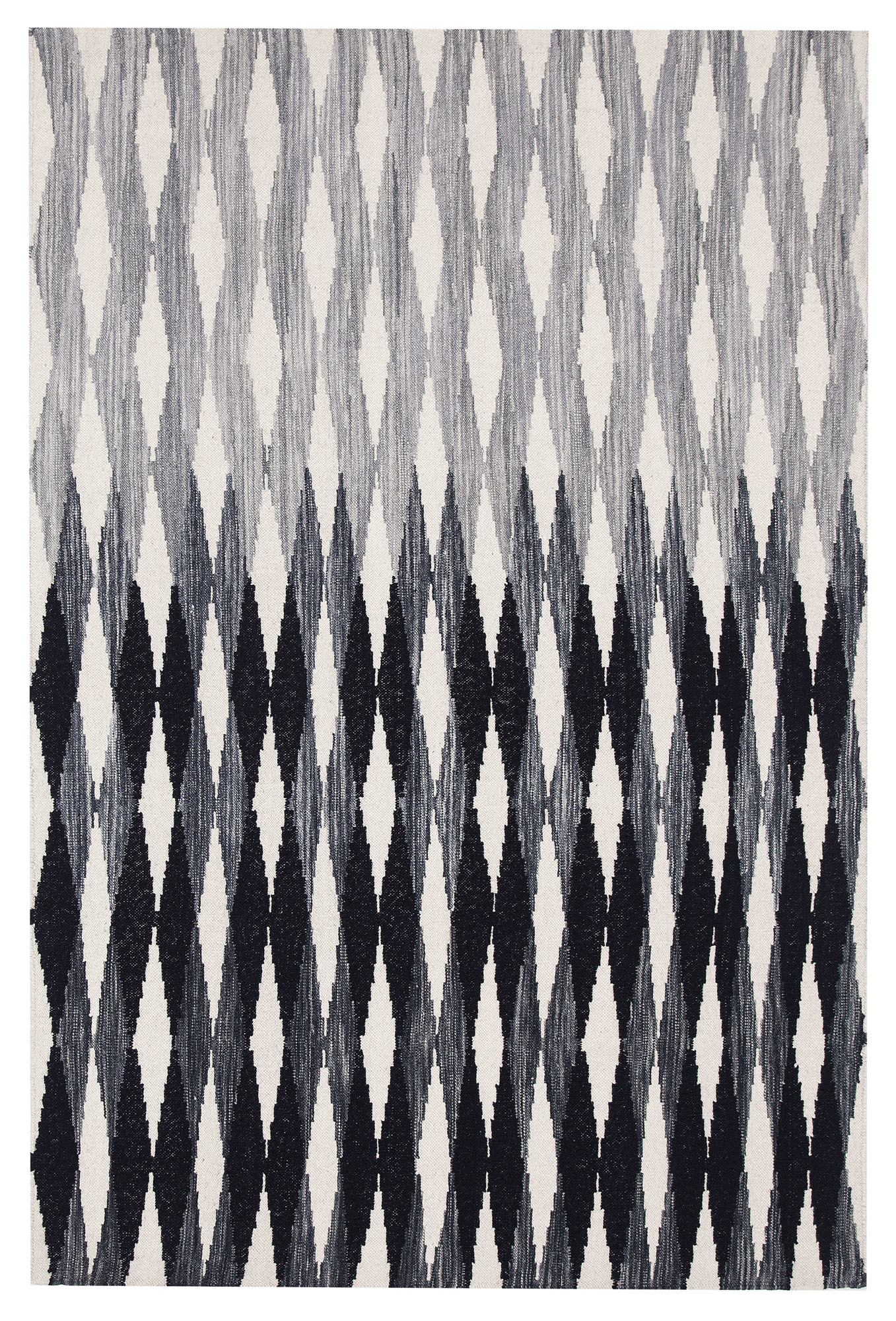 NEW-Lennie-Black-amp-Blue-Hand-Woven-Wool-Reversible-Rug-Network-Rugs