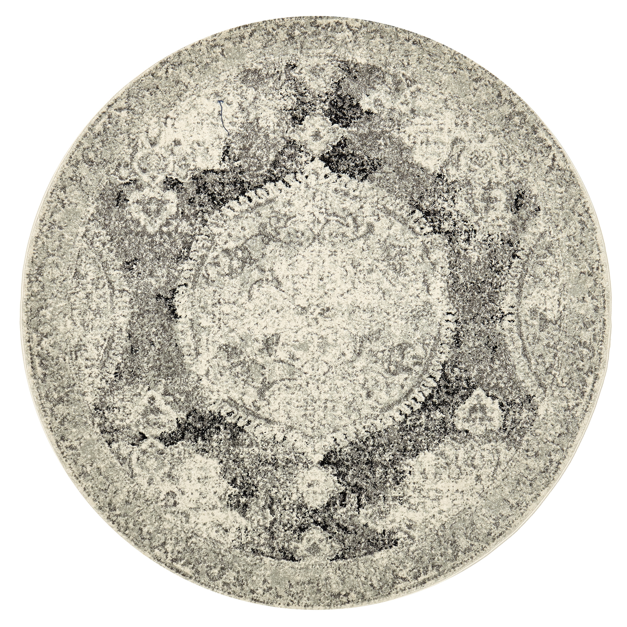 Sku #Netw7513 Charcoal Hakan Jeer Round Rug Is Also Sometimes