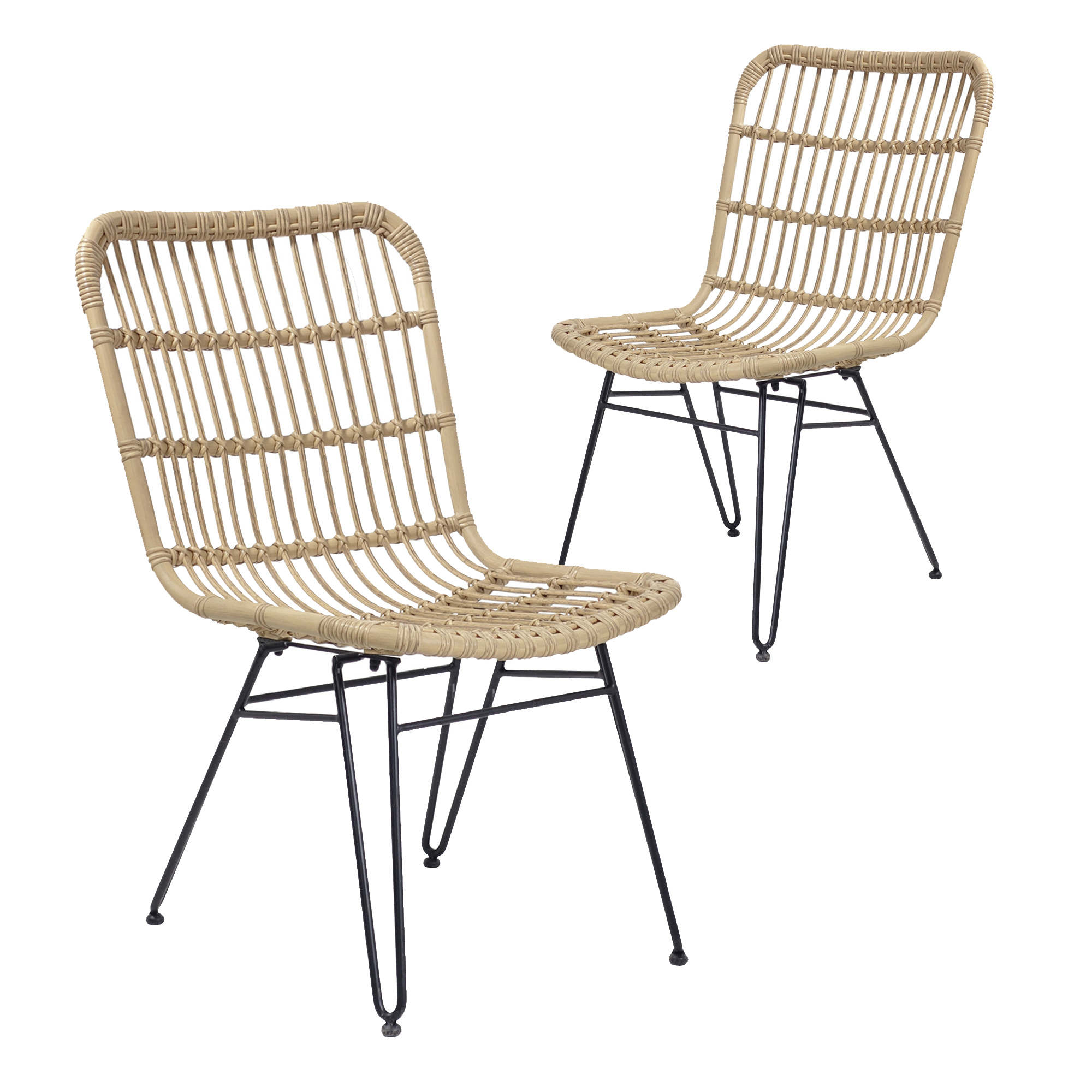 Hartman Natural Cairns Wicker Outdoor Dining Chairs Temple Webster