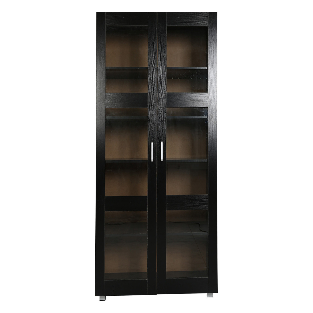 Tall Hannah 2 Door Display Cabinet Temple Webster