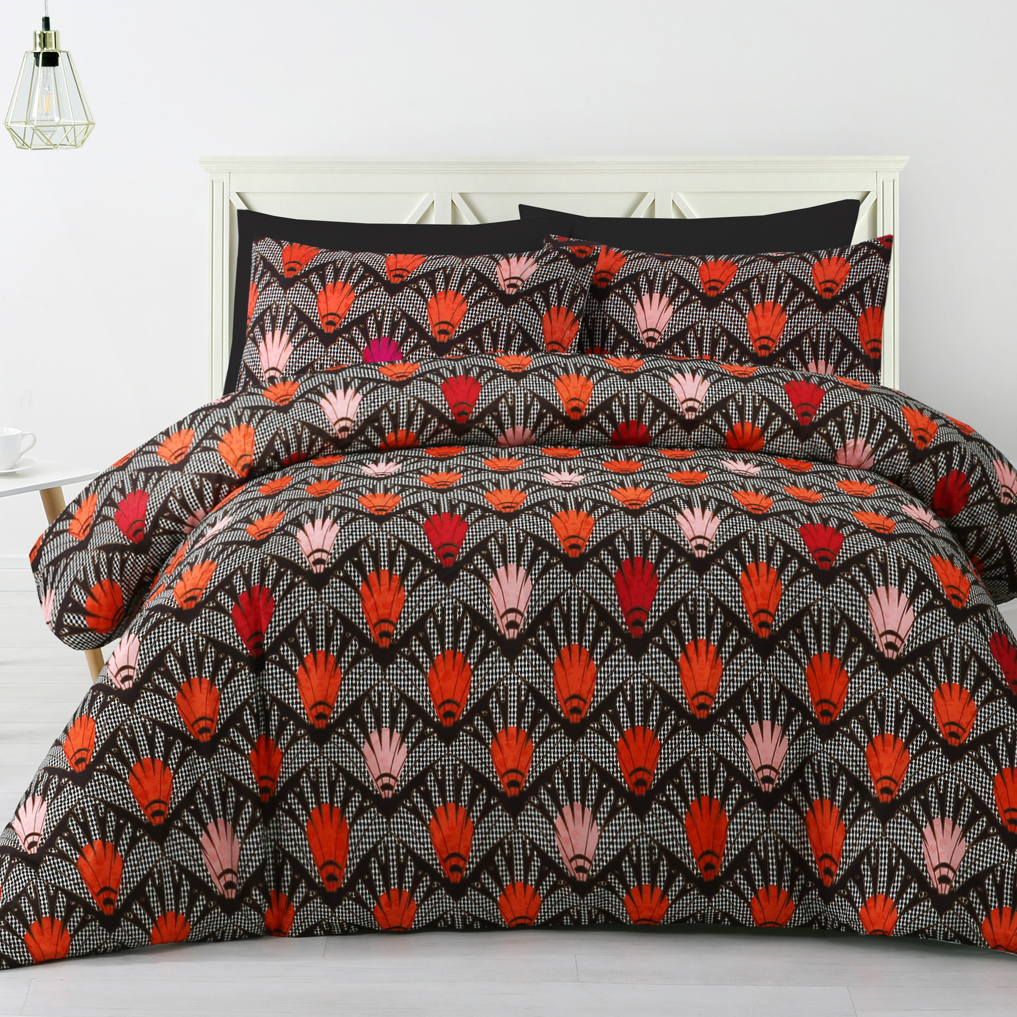 orange queen designs product and piece set jojo bath shipping comforter free gray stripe duvet bedding full size overstock sweet grey today