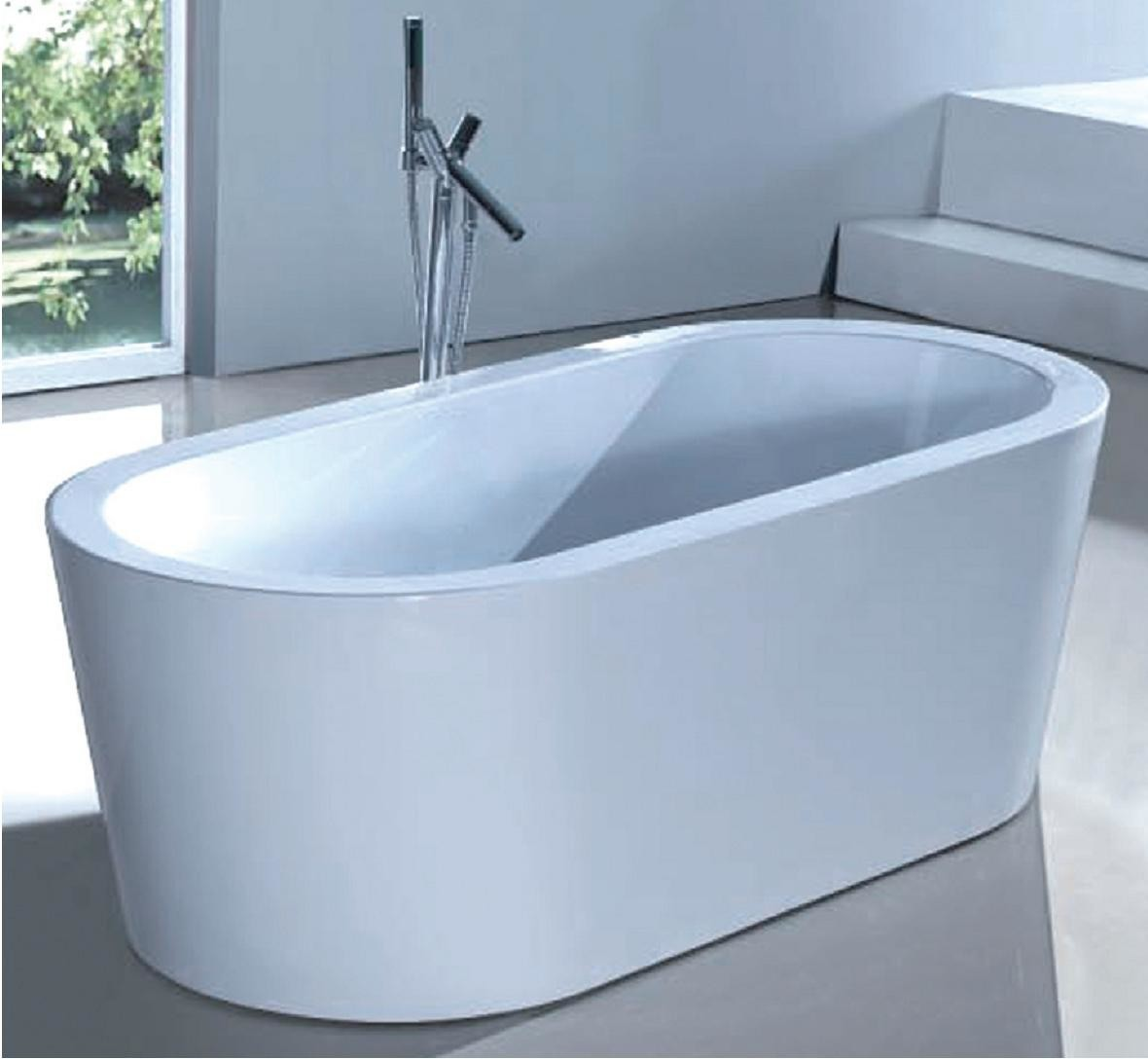 Bath tub picture for category products by glass white for Oval tub sizes