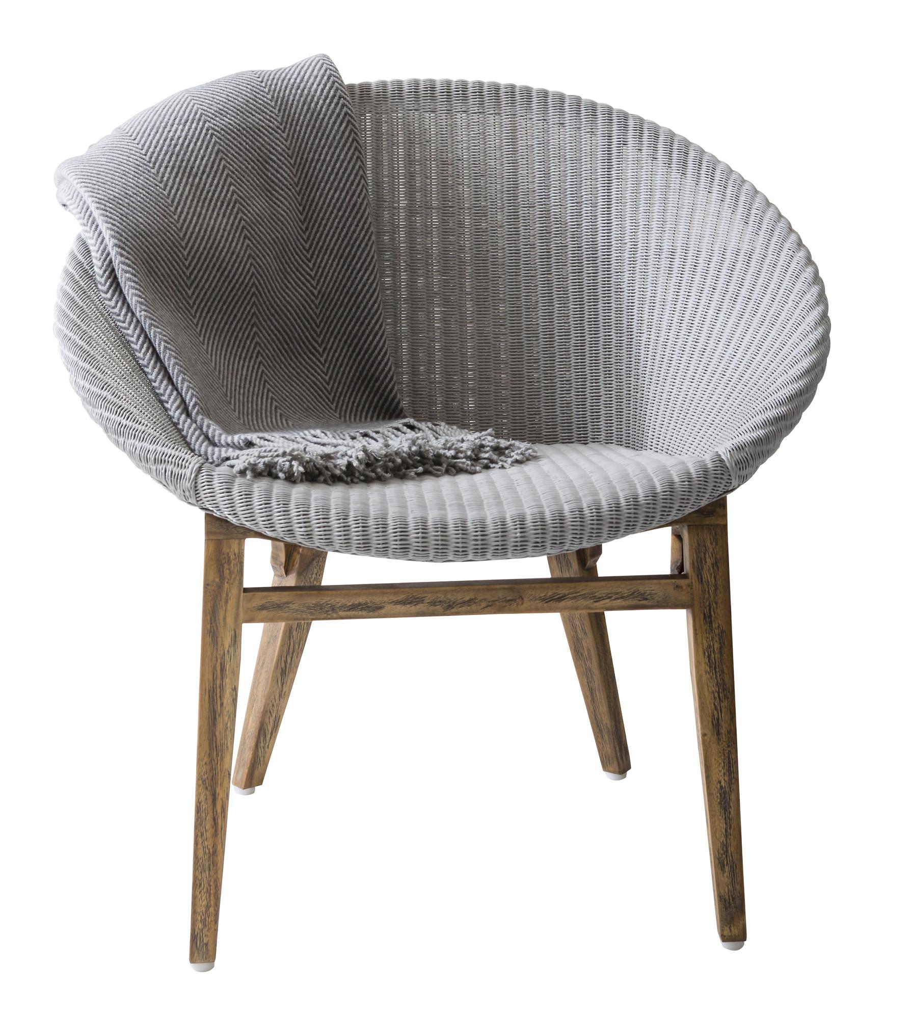 Indie Furniture Indie Tub Chair Light Grey Temple Webster